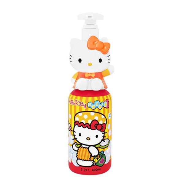 韓國 Atex X Hello Kitty 3合1幕斯沐浴泡泡 400ml ☆巴黎草莓☆