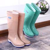 果凍雨鞋防水鞋雨靴膠鞋套鞋水靴女(6色)中筒高筒長筒時尚防滑水鞋SX1303