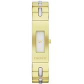 DKNY 別緻風格時尚腕錶-金