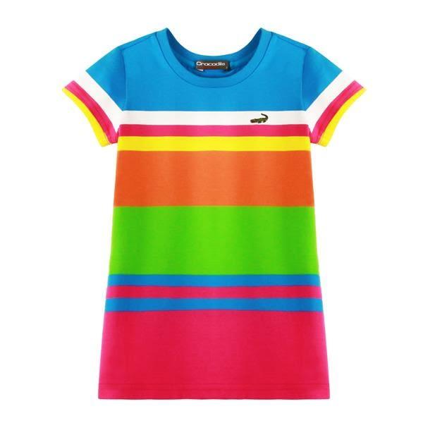 『小鱷魚童裝』跳色條紋洋裝(02號~10號)533380