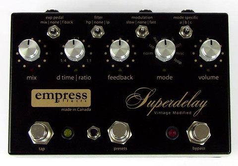 加拿大 Empress Effects Superdelay Vintage Modified 復古延遲 手工 效果器 總代理 公司貨 一年保固