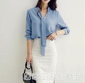 白色雪紡襯衫女長袖秋季新款職業裝氣質ol工作服正裝輕熟襯衣