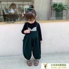 寶寶休閒洋氣毛呢長褲兒童背帶褲秋裝童裝褲子【小玉米】