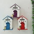 歐式家居壁掛木制信箱學校幼兒園意見箱田園風彩繪便民鳥屋型納箱 全館免運
