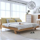 北歐實木床主臥1.8M1.5米1.2經濟型日式簡約現代雙人橡木婚床【虧本促銷沖量】