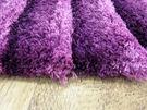 范登伯格 彩之舞 漸層條紋厚蓬地毯-紫09-50x150cm