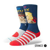 【STANCE】RYU VS KEN-男襪-休閒襪-快打旋風聯名款(M545A18RYU NVY)