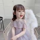 洋裝 童裝女童夏裝新款洋裝連衣裙寶寶公主裙夏季洋氣紗裙兒童蕾絲裙子 快速出貨