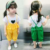 女童洋氣背帶褲套裝夏季女寶寶時尚兩件套4歲中小童裝韓版潮衣 森活雜貨