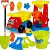 兒童沙灘玩具套裝玩沙挖沙工具沙漏鏟子男女寶寶決明子玩具沙建雄igo 范思蓮恩