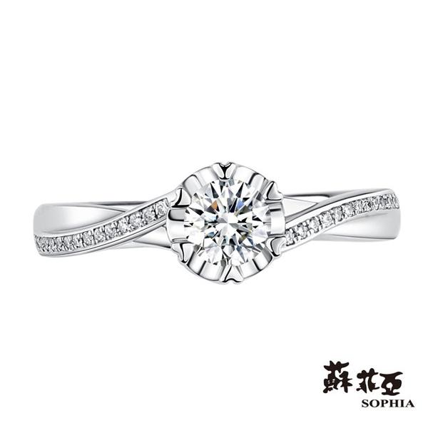 蘇菲亞SOPHIA - 心願0.30克拉ESI1 3EX鑽石戒指