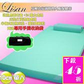 Lisan 10cm單人反壓力記憶墊《送床墊專用收納袋+高科技惰性記憶枕》 台灣製-賣點購物