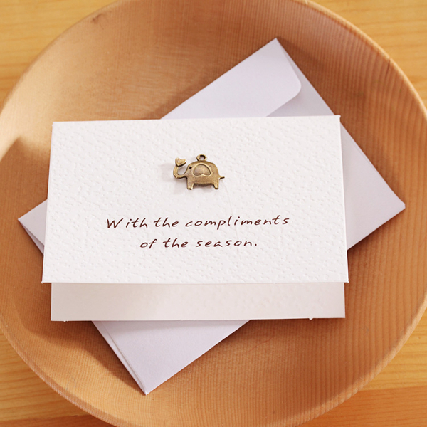 【03128】 復古懷舊金屬立體卡片 生日 聖誕節 賀卡