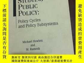 二手書博民逛書店studying罕見public policy Policy cycles and policy subsyst
