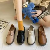 娃娃鞋 單鞋女網紅ins潮軟底時尚百搭平底防滑圓頭可愛娃娃鞋軟皮豆豆鞋 原本良品