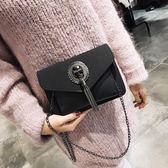 季包包女新款潮鏈條包韓版時尚磨砂單肩斜挎小方包 交換禮物