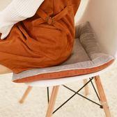 學生方形坐墊夏季辦公室椅子座墊凳子屁股墊榻榻米餐椅墊軟座椅墊