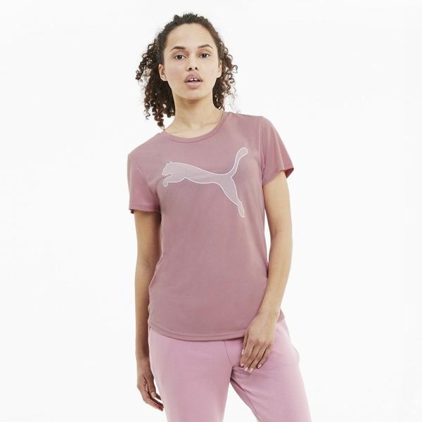 PUMA EVOSTRIPE 女款LOGO粉色短袖上衣-NO.58524616