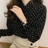 DE shop - 長袖雪紡長袖襯衫 - XA-2617