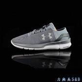 UA 女慢跑鞋 Speedform Apollo2 RF  鋼鐵灰色鞋面+白色中底  【5007】