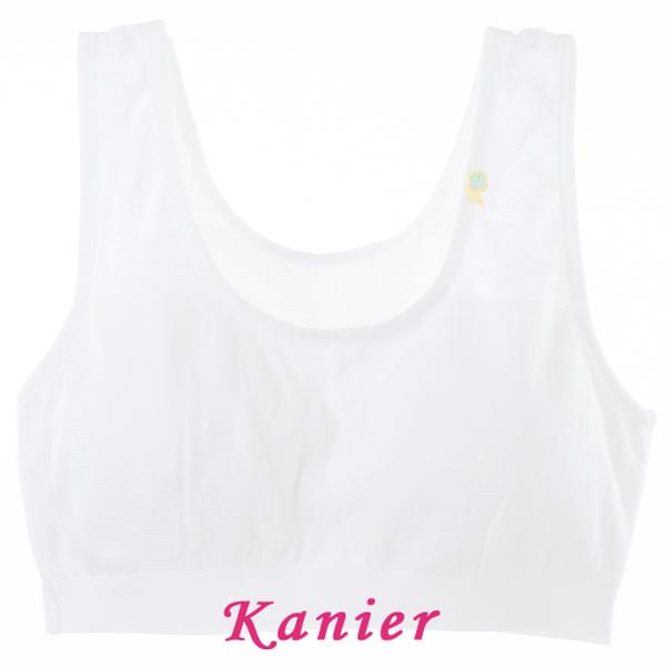 【Kanier卡妮兒】水潤白羅紋學生型短胸衣 (7246B)