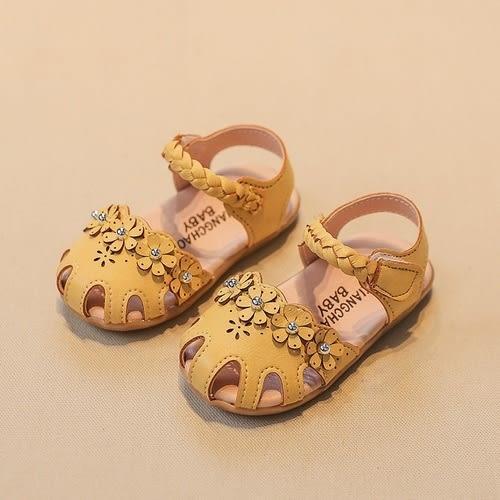 女童涼鞋 PU皮包頭小童涼鞋 娃娃鞋 童鞋 (13.5-15.5CM) KL905好娃娃