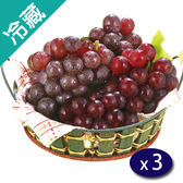 【台灣】溫室巨峰葡萄(500g±5%/盒)X3【愛買冷藏】