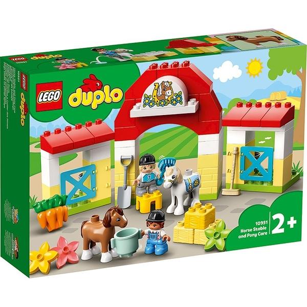 樂高積木 LEGO《 LT10951》Duplo 得寶系列 - 馬廄 & 小馬照護站/ JOYBUS玩具百貨