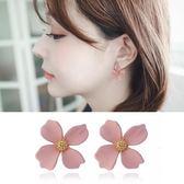 【NiNi Me】夾式耳環  甜美可愛花朵盛開夾式耳環 夾式耳環 E0138