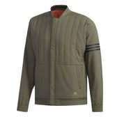ADIDAS MID QUIL 男裝 外套 立領 夾克 棒球外套 休閒 鋪棉 綠【運動世界】DH3978