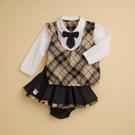 台灣生產製造  KA學院氣息女童裙子套裝