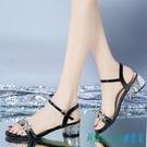 粗跟涼鞋女2020年夏季新款百搭仙女風法式少女一字扣帶露趾高跟鞋 OO9606『科炫3C』