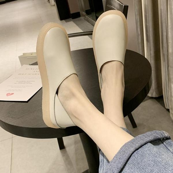 果凍豆豆鞋果凍單鞋女春季新款軟底舒適豆豆鞋休閒百搭小皮鞋懶人護士鞋  【快速出貨】