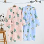睡袍浴袍春夏季男女純棉和服睡裙