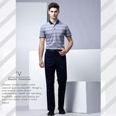 【Emilio Valentino】范倫鐵諾都會型男平面休閒褲_藍