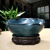 萬聖節快速出貨-景德鎮陶瓷魚缸荷花盆睡蓮碗蓮花盆