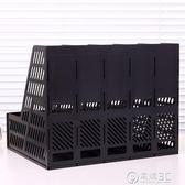 得力文件架子 多層辦公文件收納盒文件架 辦公用文件框桌面資料架igo   電購3C