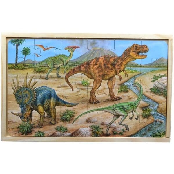 玩具男孩木質拼圖恐龍小孩兒童女孩拼裝
