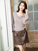秋冬7折[H2O]可單穿或當外套自動機織紋針織毛衣 - 白/灰/駝色 #9650017