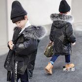 男童棉衣新款正韓兒童冬裝中長版棉襖中大童寶寶胖童迷彩棉服(一件免運)