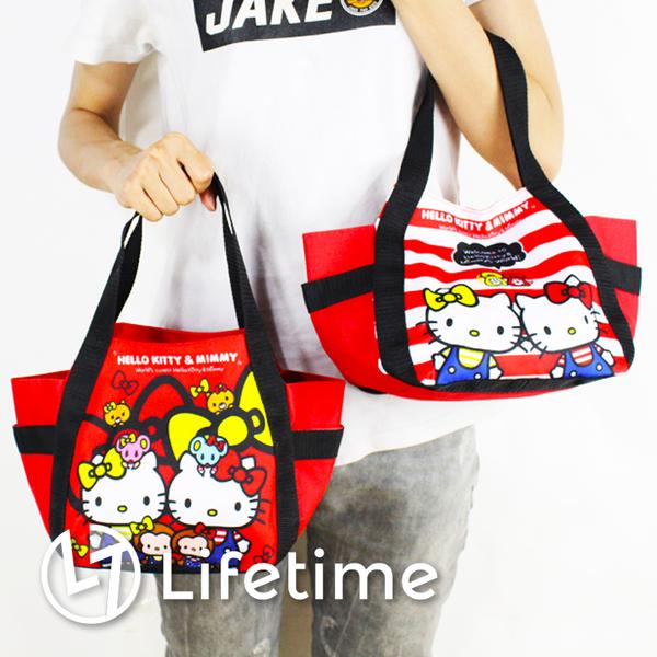 ﹝Kitty餃型便當袋﹞正版手提餐袋 便當袋 水壺袋 凱蒂貓 〖LifeTime一生流行館〗B19080