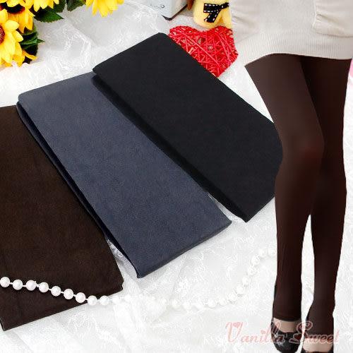 220丹厚款天鵝絨保暖褲襪(踩腳款) 百搭性感 纖腿美型 - 香草甜心
