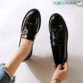 【618好康又一發】樂福鞋女韓版英倫風平底小皮鞋