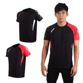 ASICS 男短袖T恤(慢跑 路跑 運動T恤 剪接T恤 防紫外線