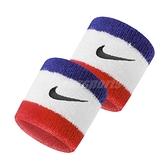 Nike 護腕 Swoosh Wristbands 白 藍 紅 男女款 勾勾 一組兩入 球類運動 運動休閒 【ACS】 N000156562-0OS