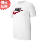 【現貨】Nike Sportswear 男裝 短袖 休閒 大勾 仿刺繡 純棉 百搭 白【運動世界】AR4994-100