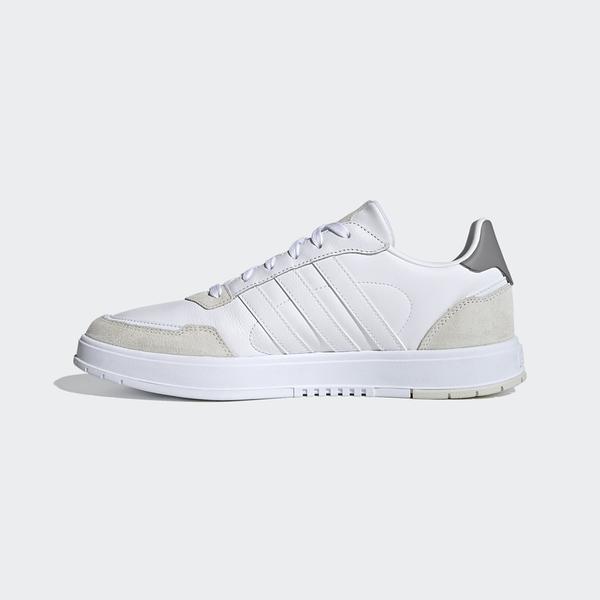 Adidas COURTMASTER SHOES 男款白色麂皮運動慢跑鞋-NO.FV8106