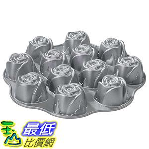 [美國直購] Nordic Ware 56748 玫瑰烤盤 Cast-Aluminum Nonstick Muffin Pan, Sweetheart Rose