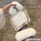 上新小包包女新款潮百搭斜挎少女鏈條包時尚毛毛包手提小方包 印象家品旗艦店