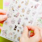 【BlueCat】Hong2大黑框眼鏡兔日記透明貼紙 (6入裝)
